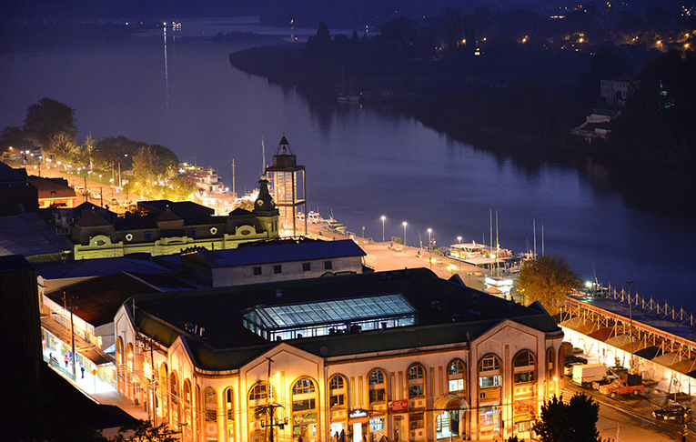 Valdivia, Chile at night