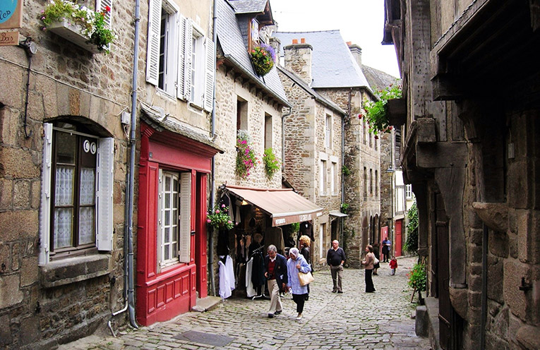 Cobblestone streets in Angers, France