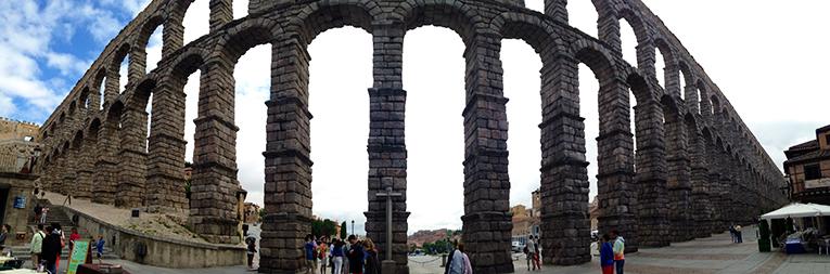 Aqueducts in Segovia, Spain