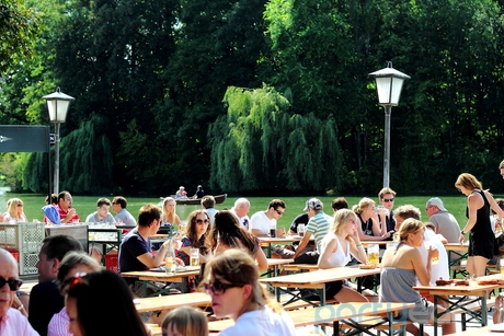 Theres no better place to catch the sunset over the lake than Seehaus in Englischer Garten.
