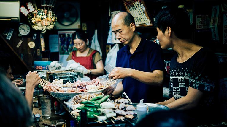 food vendors in Shinjuku-ku, Japan