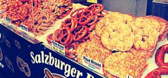 Enjoy the Salzburger Brezen Reisinger huge and tasty Pretzels.