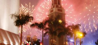 Watch the festival fireworks for the Chinese New Year.