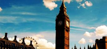 The famous Big Ben of London, Engand.