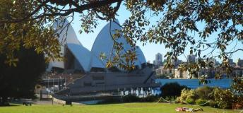 A view of the Sydney Harbour and the Opera House.