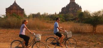 Biking through the ruins of Bago, Bago Region while volunteering in Myanmar.