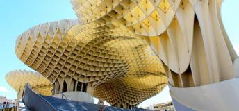 Metropol Parasol, said to be the largest wooden structure in the world, is a must see while interning in Seville, Spain.