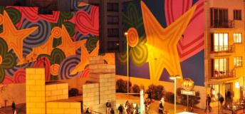 Colorful murals in Santiago, Chile