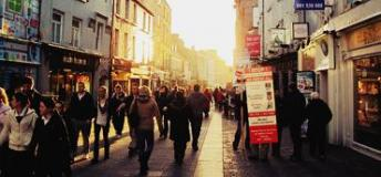 The streets of Galway depict the feel of one of Ireland's most popular cities and could a be a great choice for studying abroad in Ireland.