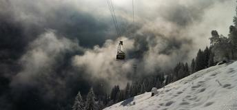 Ski Lift Amidst the Magnificence of Switzerland's Mountains