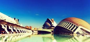 La Ciudad de las Artes y las Ciencias, The City of Arts and Sciences, is a must-see while studying in Valencia, Spain