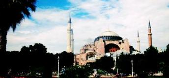 The Hagia Sophia dominates the Istanbul skyline