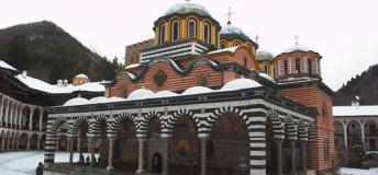 The Rila Monastery in Rila Mountains, Bulgaria.