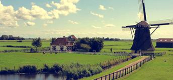 Windmill in Netherlands.