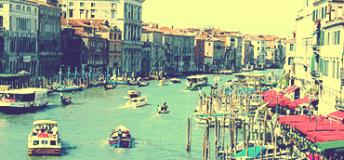 a view of Grand Canal in Venice, Italy