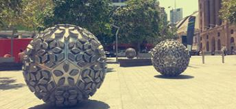 Sculptures in downtown Brisbane, Australia