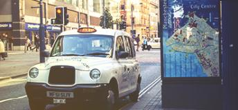 Taxi in Manchester, England