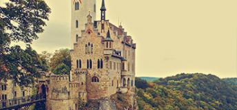 Schloss Lichtenstein in the Swabian Alps in Germany