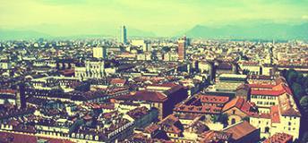 Cityscape of Torino, Italy