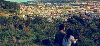 A view of Auckland, New Zealand from a Mountain Top