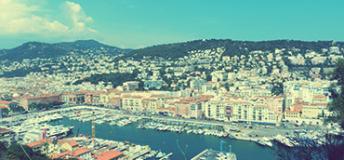 Overlooking Nice, France