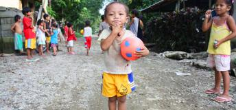 Filipino child in a rural village