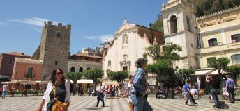 Sunny day in Taormina, Italy
