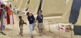 Refugee camp in Pakistan