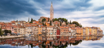 Rovinj, Croatia skyline from the water