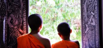 Teach young novice monks