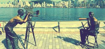 Film-maker statues in Hong Kong