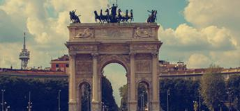 The Arco della Pace in Milan, Italy