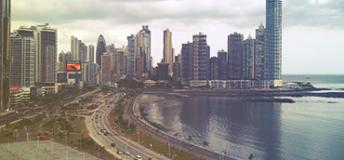 Coastal view in Panama City, Panama
