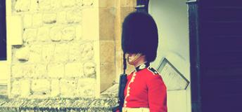 British Guard at Buckingham Palace in England