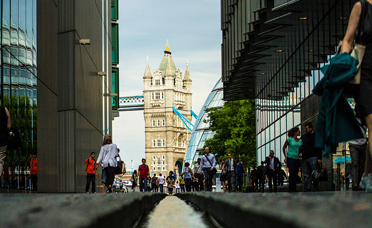 View of Tower Bridge, London, England