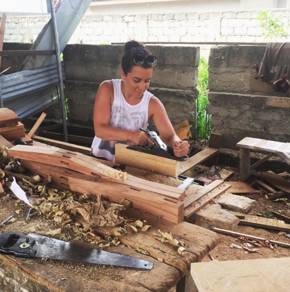 Construction volunteer in Ghana
