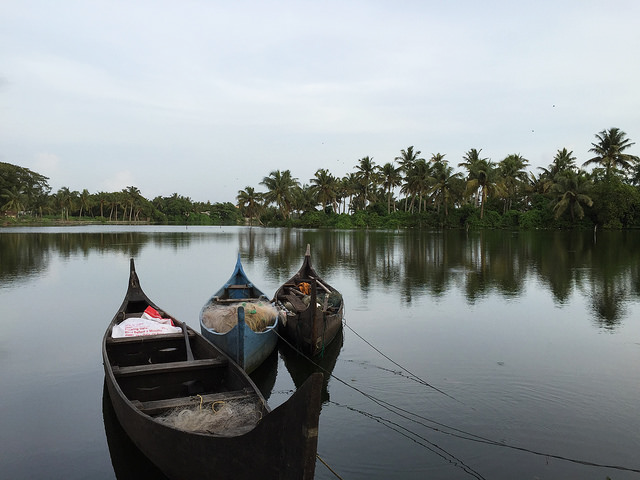 Lake in Fort Kochi, Kerala, India