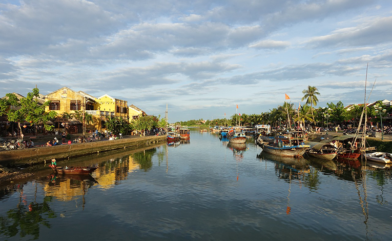 River near Hoi An and Da Nang, Vietnam