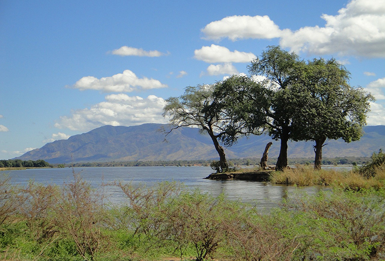 Lake in Zambia
